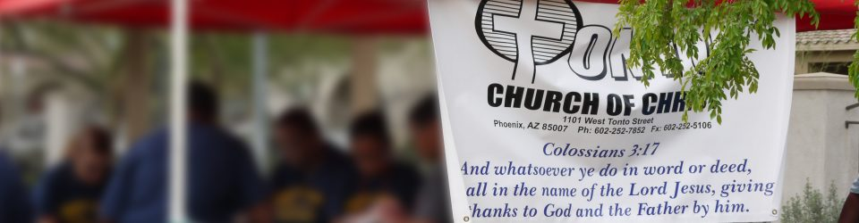 tonto church banner